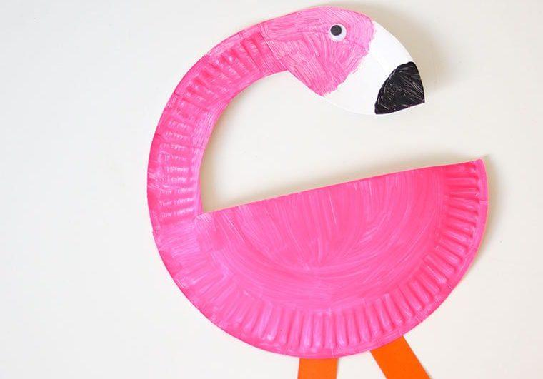 knutselen-met-papier-flamingo-karton-bordje-min1