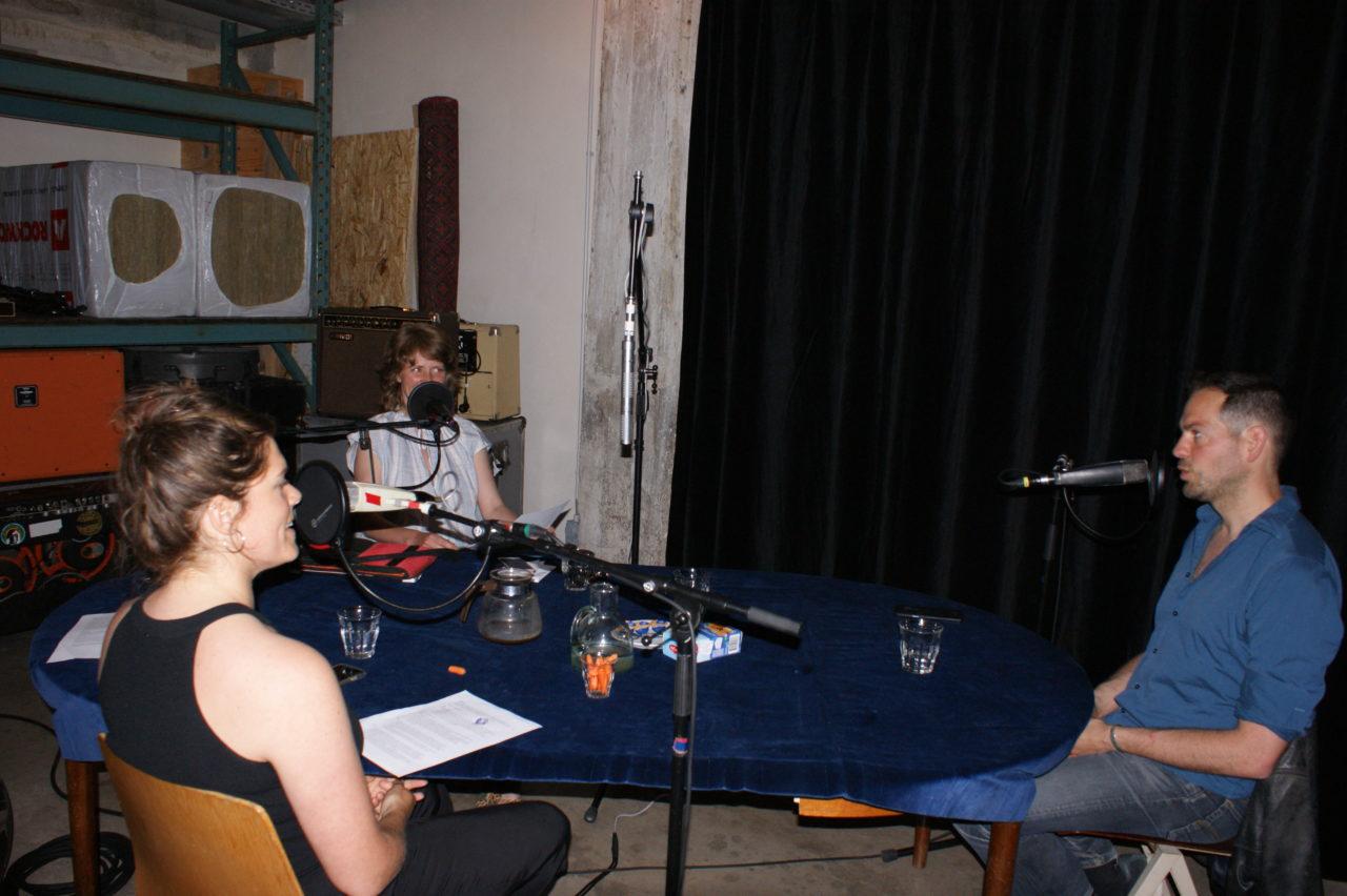 Ewa Scheifes, Petra Heck en Lucas de Man in de studio van Erik's House